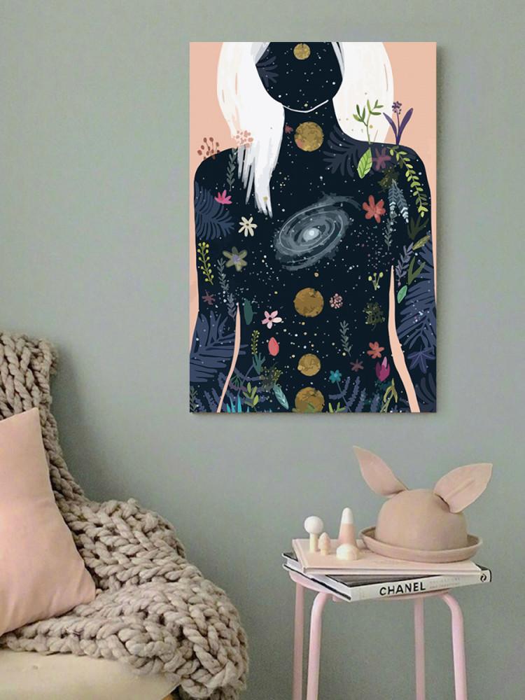 لوحة فضاء المرأة خشب ام دي اف مقاس 40x60 سنتيمتر