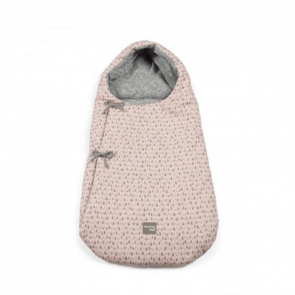غطاء واقي من البرد لحديثي الولادة  برسومات شجر باللون الزهري من  دوها