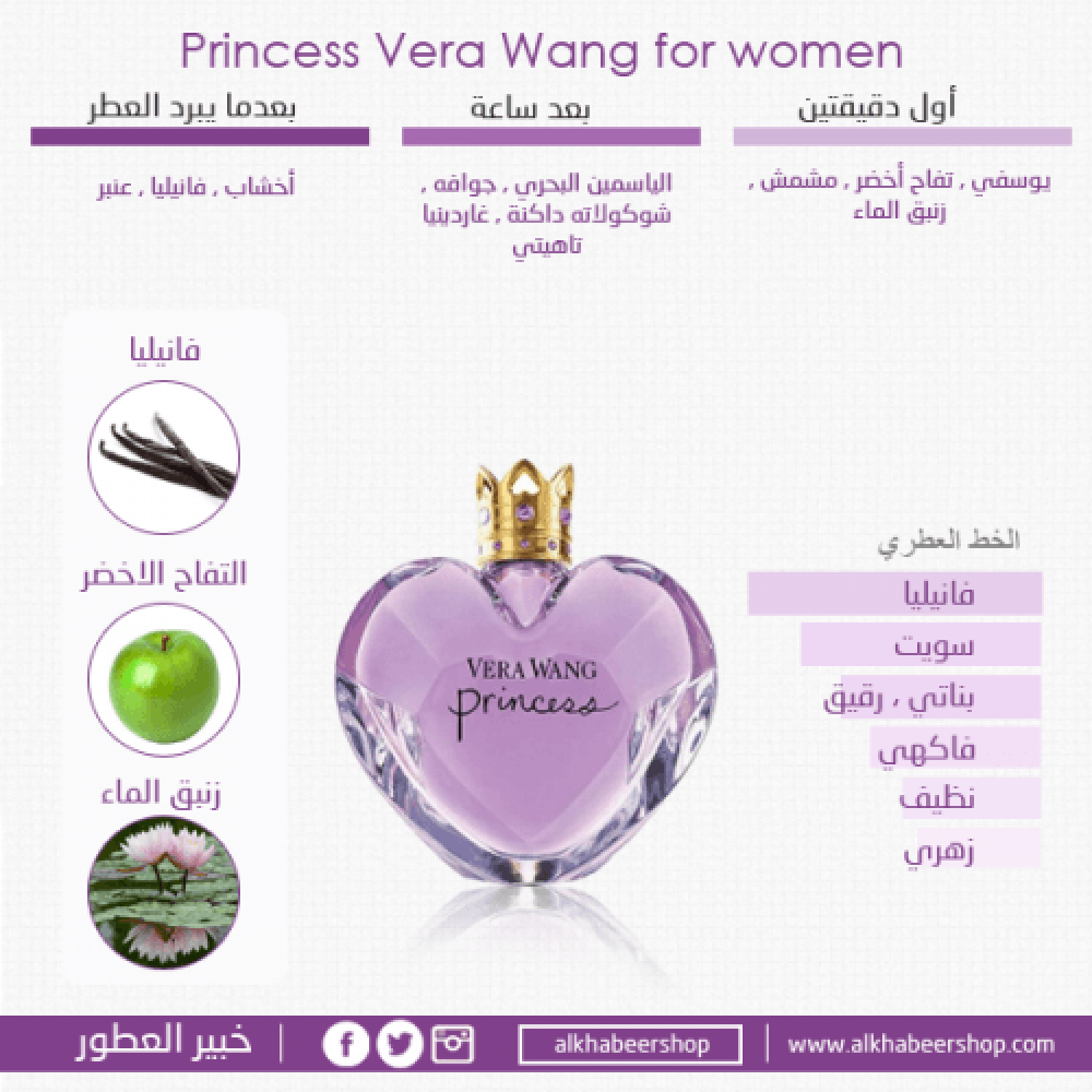 Vera Wang Princess Eau de Toilette 100ml متجر خبير العطور