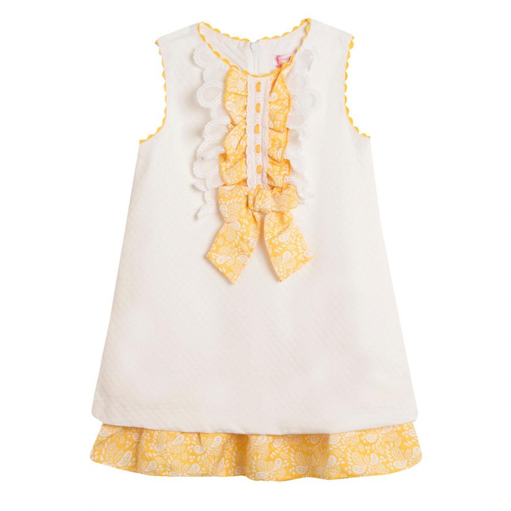 فستان- أبيض-اسباني