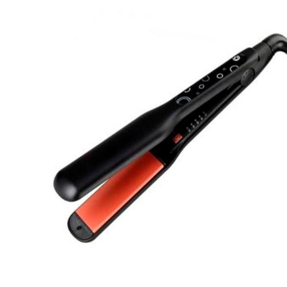 ريبون مصفف ومملس الشعر يمنحك تحكما في درجة الحرارة أسود REBUNE