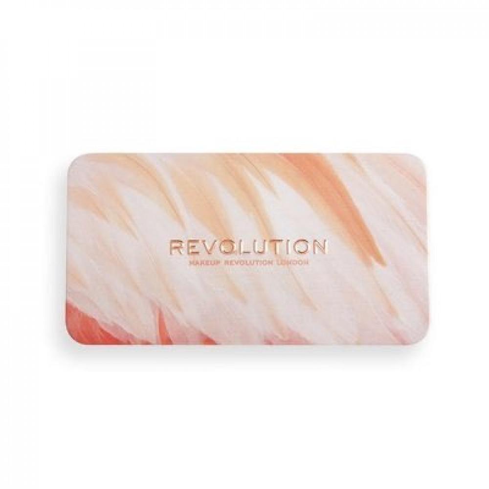 باليت بلاشر من ريفلوشن Revolution Flamingo Mini Blush Trio - Oh My Blu