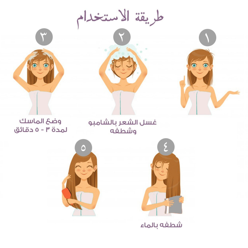 ماسك لتنعيم الشعر الخشن علاج تقصف الشعر ترطيب الشعر العناية بالشعر