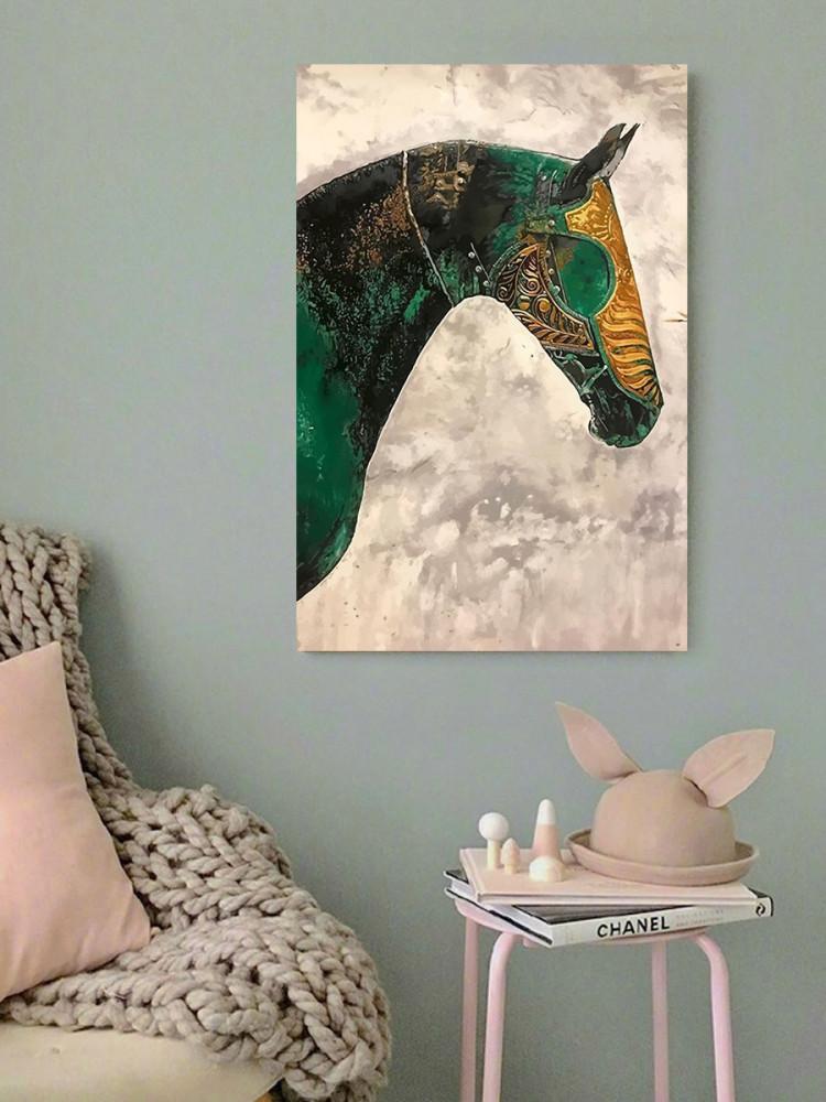 لوحة الحصان ديجيتال ارت خشب ام دي اف مقاس 40x60 سنتيمتر