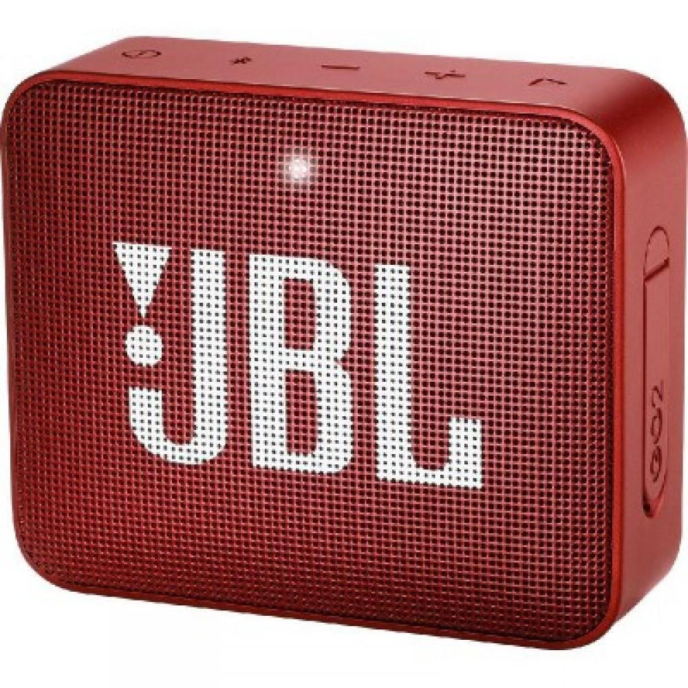 JBL GO 2 Portable Wireless Bluetooth Speaker Red