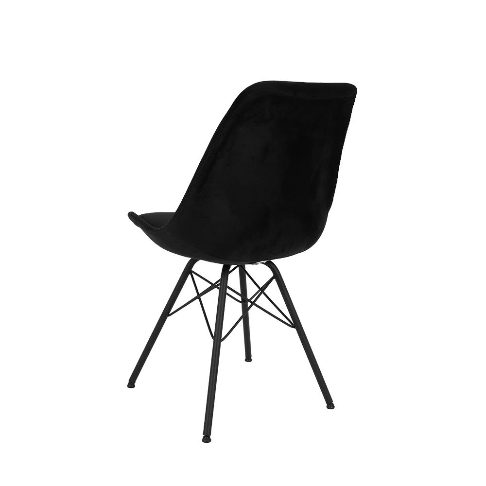 زاوية من الخلف للكرسي الأنيق في متجر يوتريد من طقم كراسي 4 قطع أسود