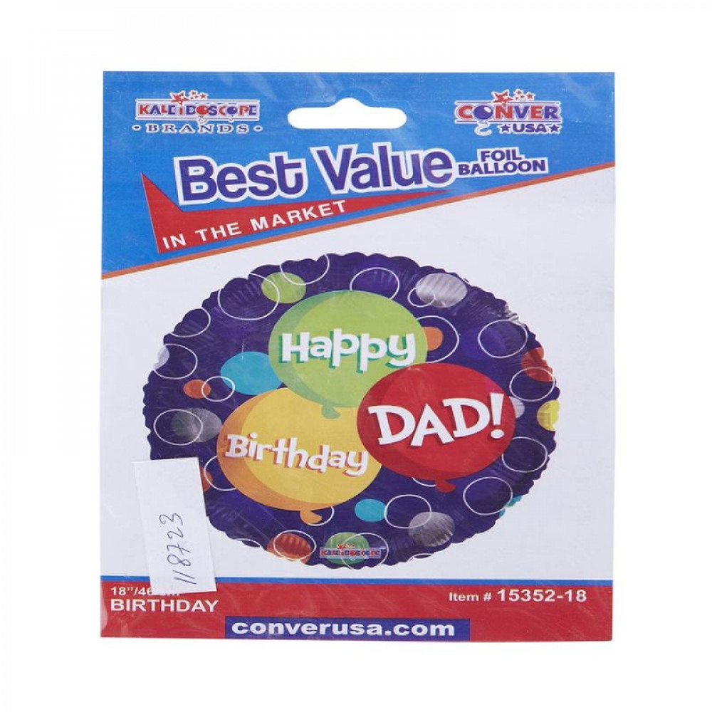 Happy Birthday Dad Balloon, بالون عيد ميلاد الأب, بلونات أشكال