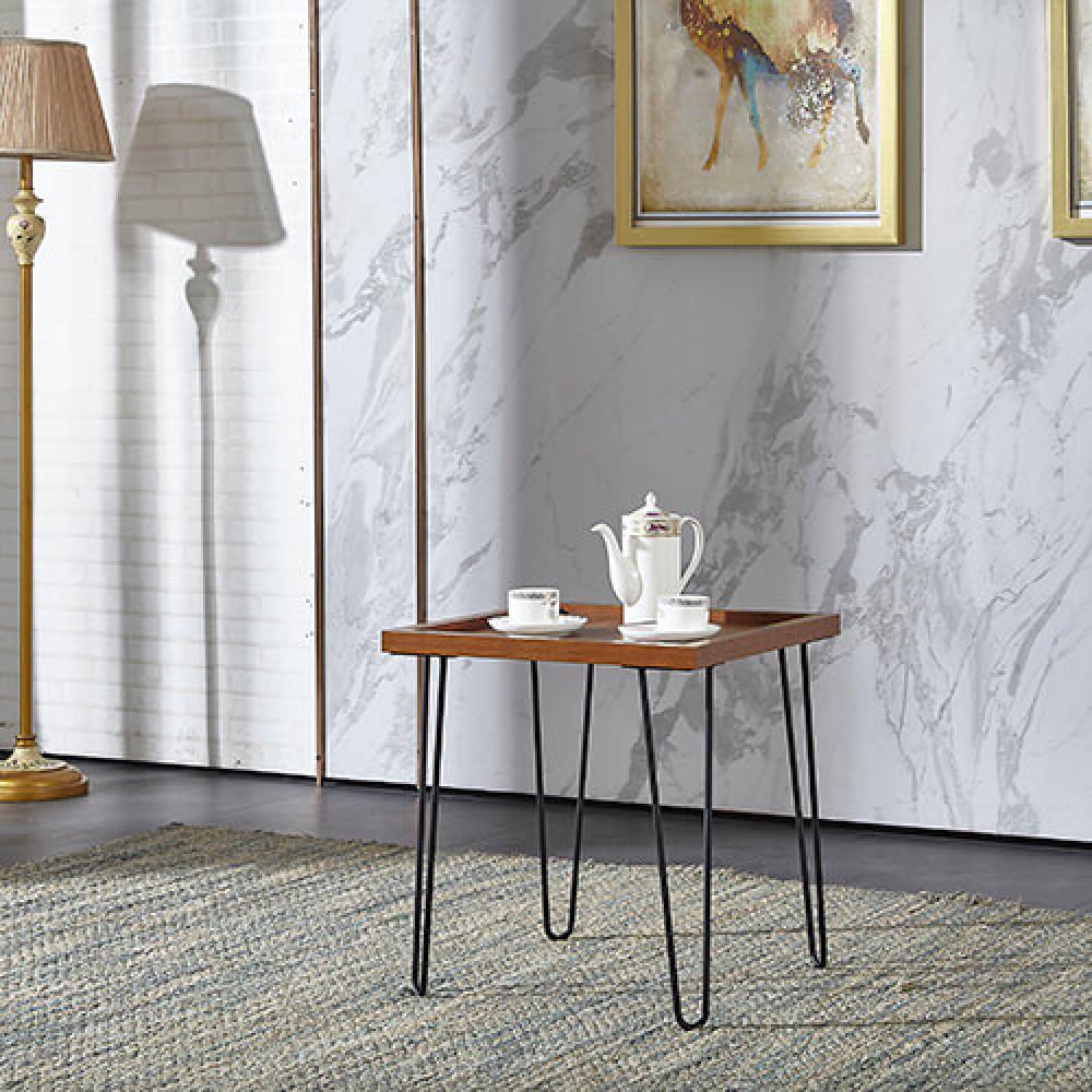 طاولة جانبية موديل كاري خشب MDF وسطح مقاوم للخدش مناسبة لغرفة الجلوس