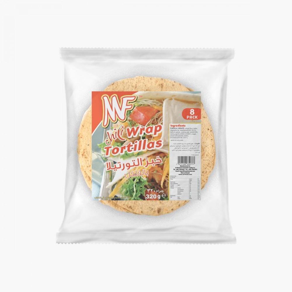 MF Holland Chili Tortillas  ام اف هولاند خبز التورتيلا فلفل