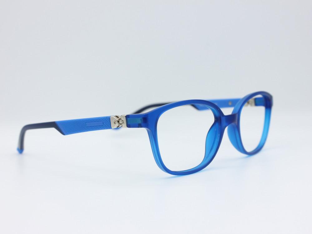 نظارة طبية للأطفال من ماركة T دائرية مع عدسات حماية لون الاطار ازرق