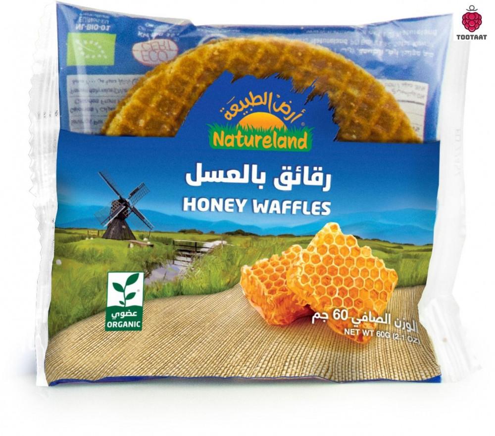 الرقائق بالعسل Natureland Honey Waffles 60 g Tootaat
