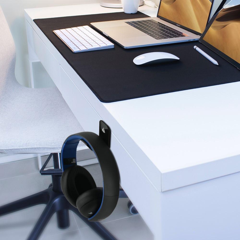 حامل سماعة رأس للتثبيت على الحائط - أسود Wall mount headphone stand