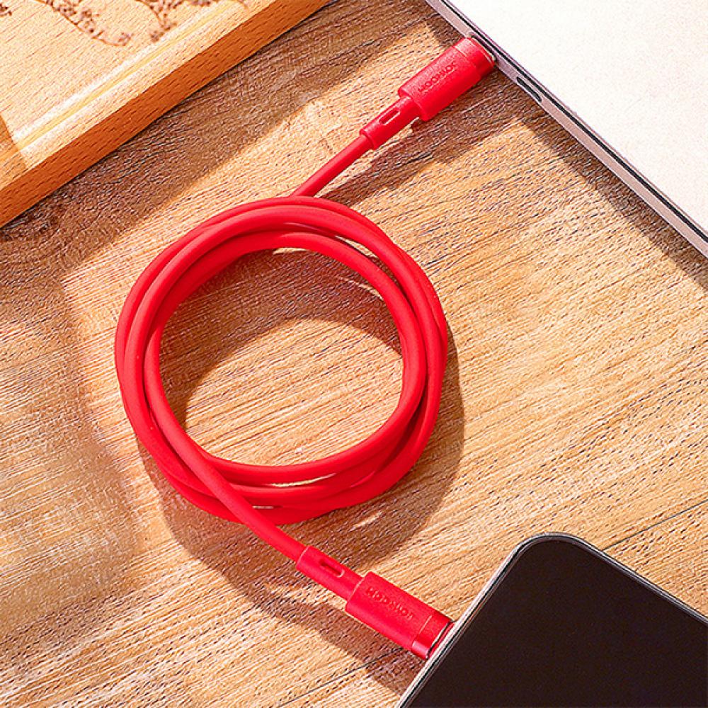 كيبل Joyroom تايب سي لايتننج للأيفون - أحمر