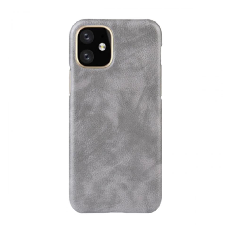 كفر جلد لأيفون 11 برو ماكس - رمادي IPhone 11 Pro Max