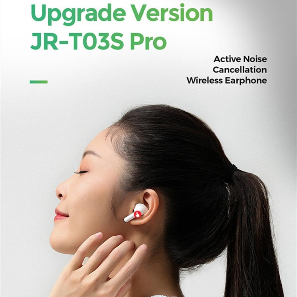 سماعة لاسلكية Joyroom T03S pro بالبلوتوث - أبيض