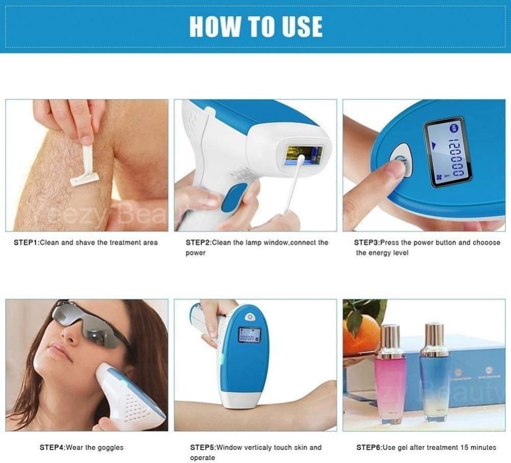 جهاز إزالة الشعر بالليزر IPL وتجديد البشرة 3في1 - جهاز إزالة الرؤوس ال