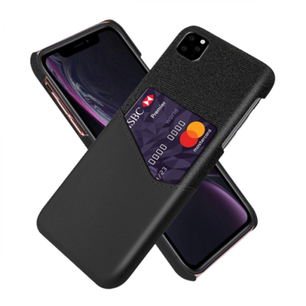 كفر بفتحة للبطاقات لأيفون 11 برو ماكس - أسود IPhone 11 Pro Max