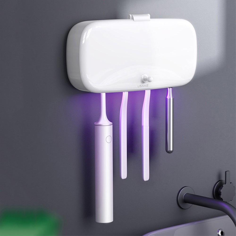 جهاز تعقيم فرشاة الأسنان بالأشعة فوق البنفسجية USAMS US-ZB183 - أبيض U
