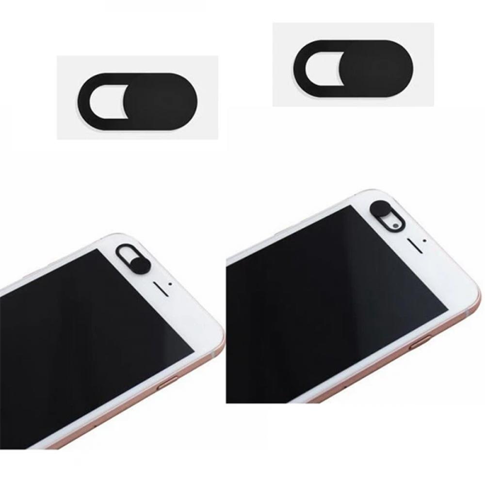 أغطية بلاستيكية سوداء لكاميرا الويب للهواتف الذكية واللابتوب - قطعتان