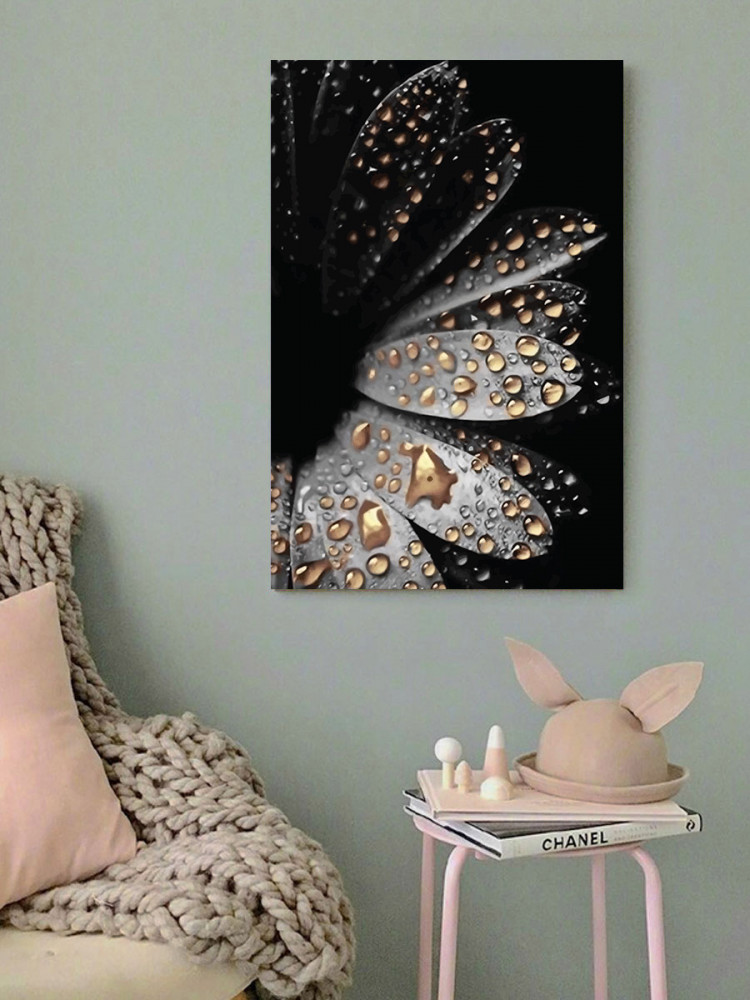 لوحة قطرات الندى خشب ام دي اف مقاس 40x60 سنتيمتر