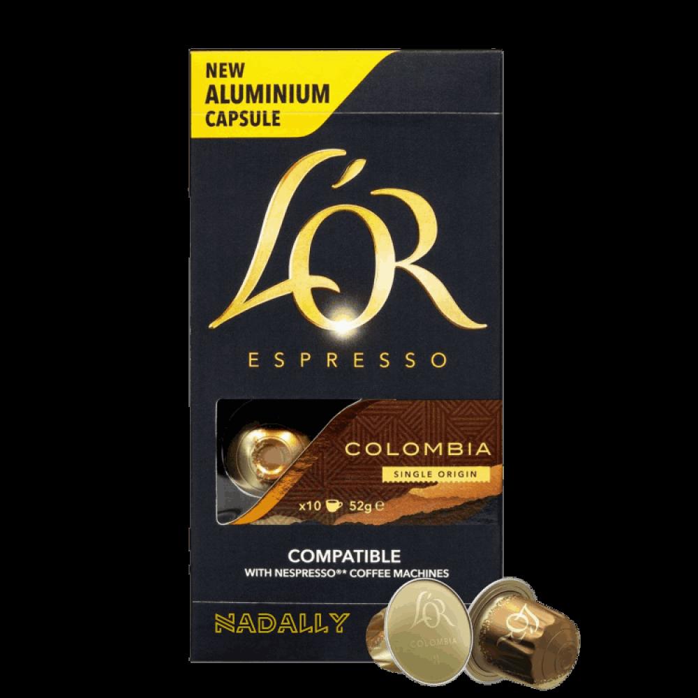 LOR قهوة لور كولومبيا كبسولات نسبريسو الأصلية Nespresso