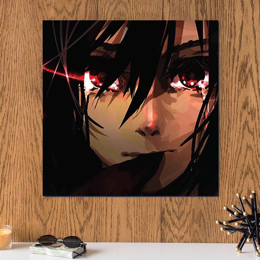 لوحة انمي أتاك اون تايتن خشب ام دي اف مقاس 30x30 سنتيمتر