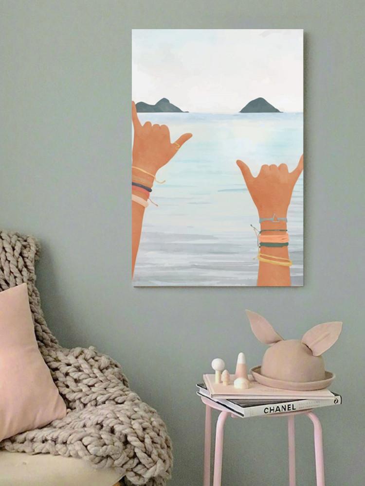 لوحة البحر خشب ام دي اف مقاس 40x60 سنتيمتر
