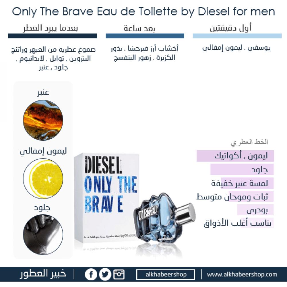 Diesel Only The Brave Eau de Toilette 75ml خبير العطور