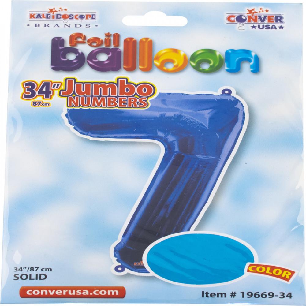 بالون أزرق, بالون رقم 7, Blue Balloon, بلونات أرقام