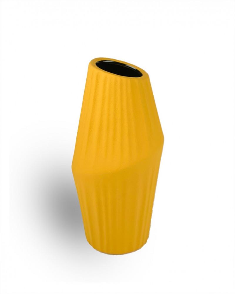 فازة ورد صفراء عصرية