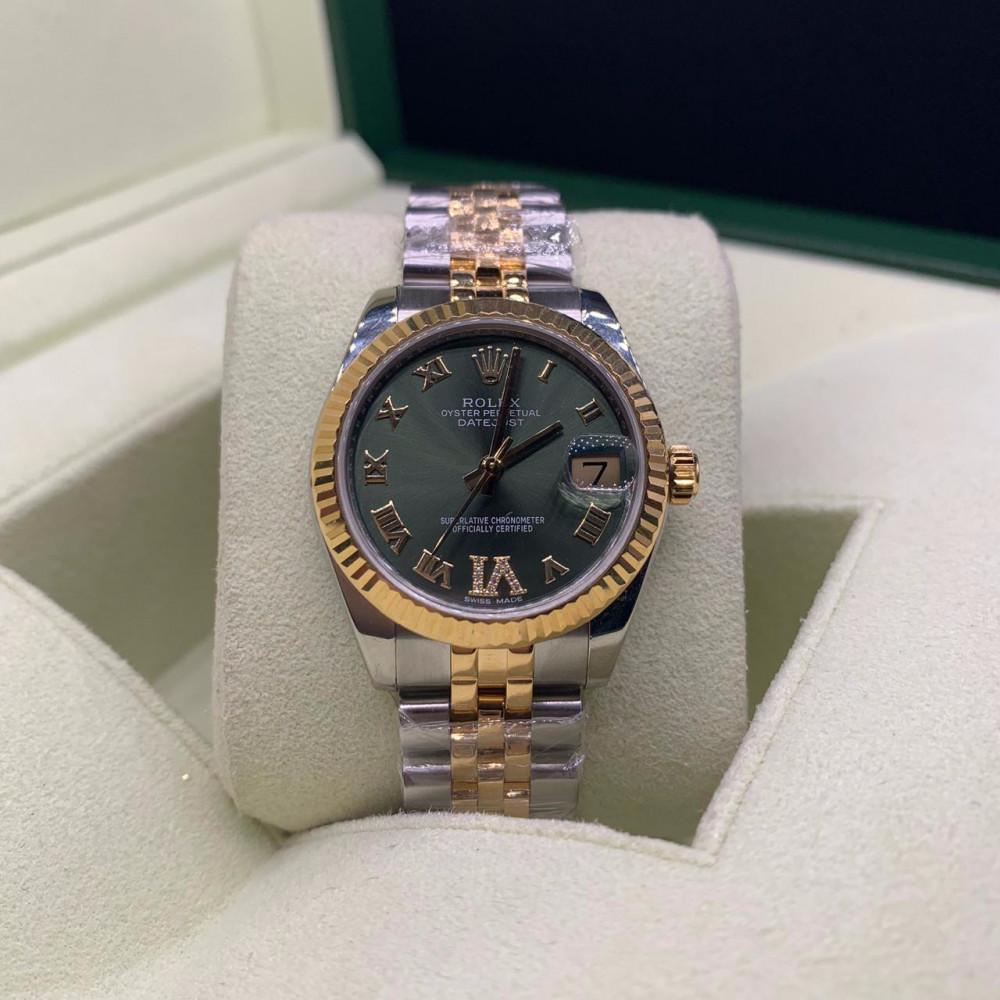 ساعة رولكس ديت جست الأصلية الثمينة شبه جديدة