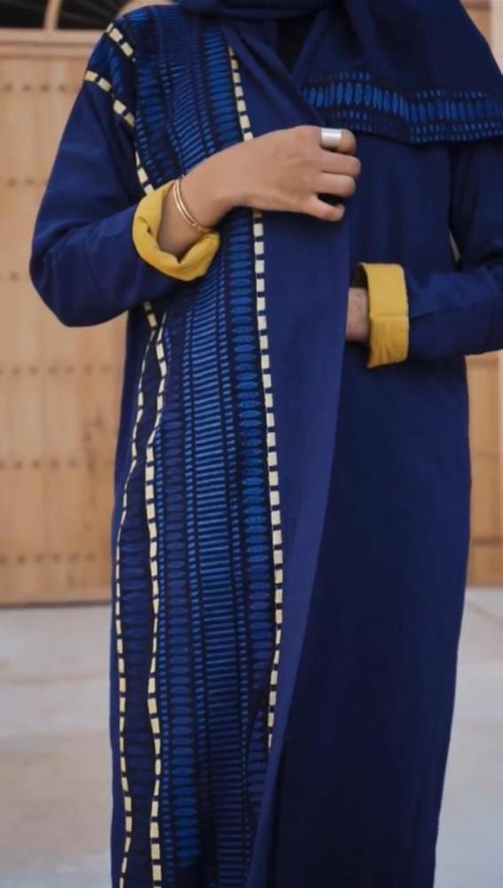 شراء عبايه زرقه - متجر ميم عباية