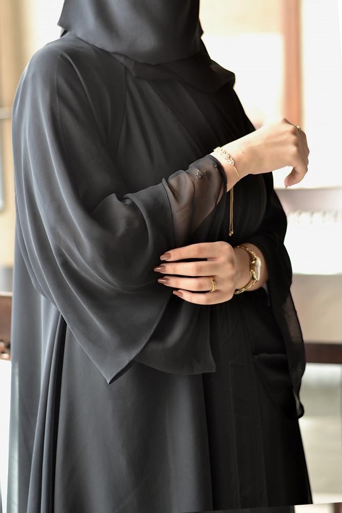 عباية سوداء للمحجبات - متجر ميم عباية