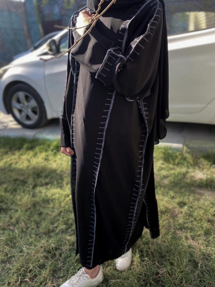 عبايات اسود ساده - متجر ميم عباية