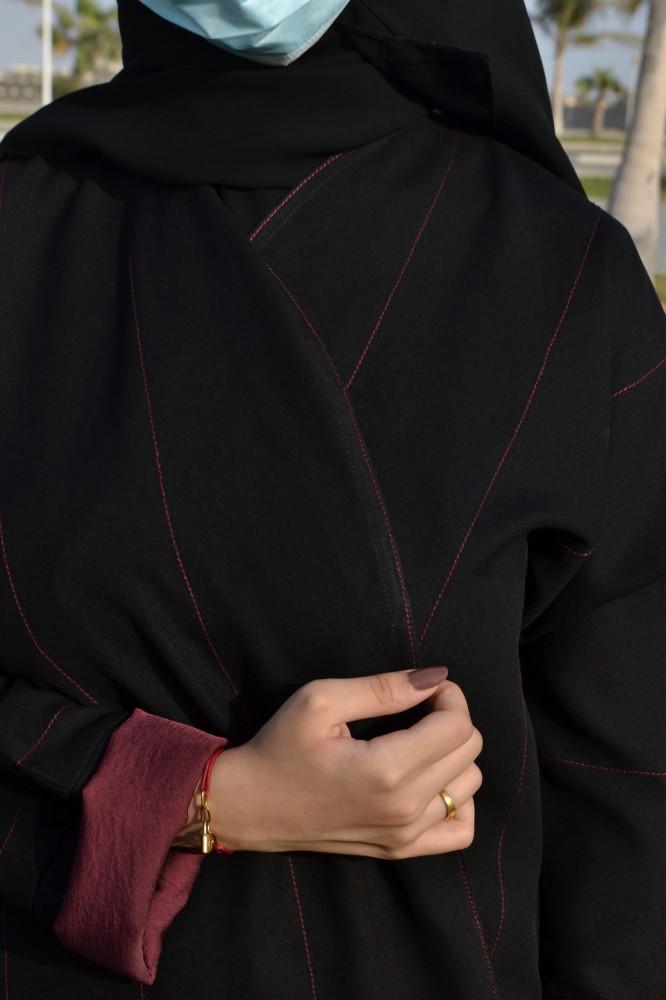 شراء اجمل موديلات عبايات سوداء - متجر ميم عباية