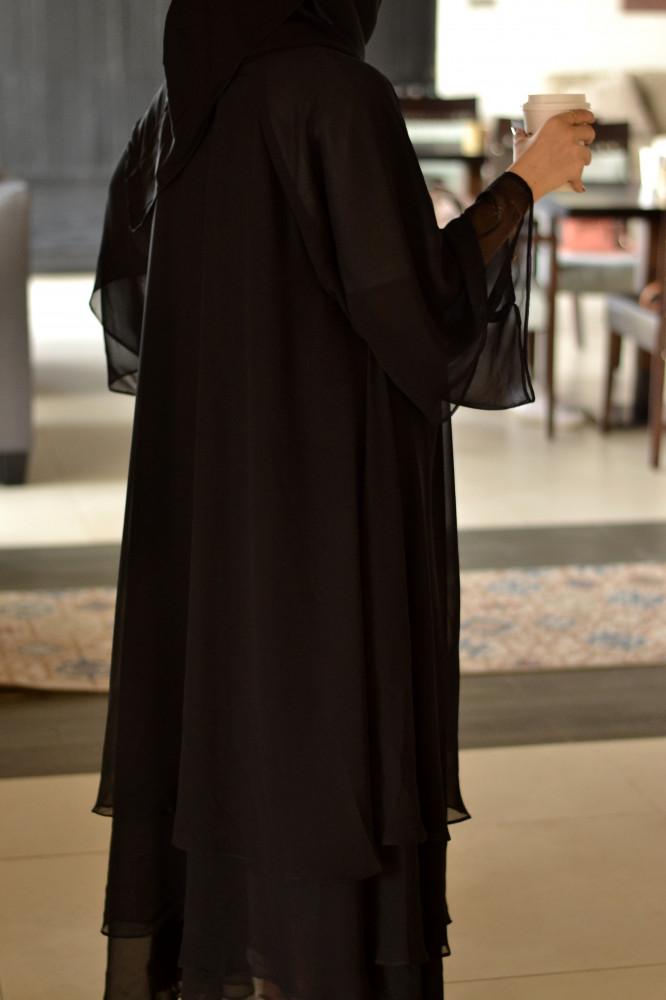 سعر عباية سوداء للمحجبات - متجر ميم عباية