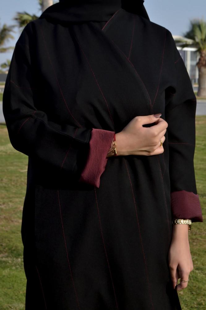 سعر اجمل موديلات عبايات سوداء - متجر ميم عباية