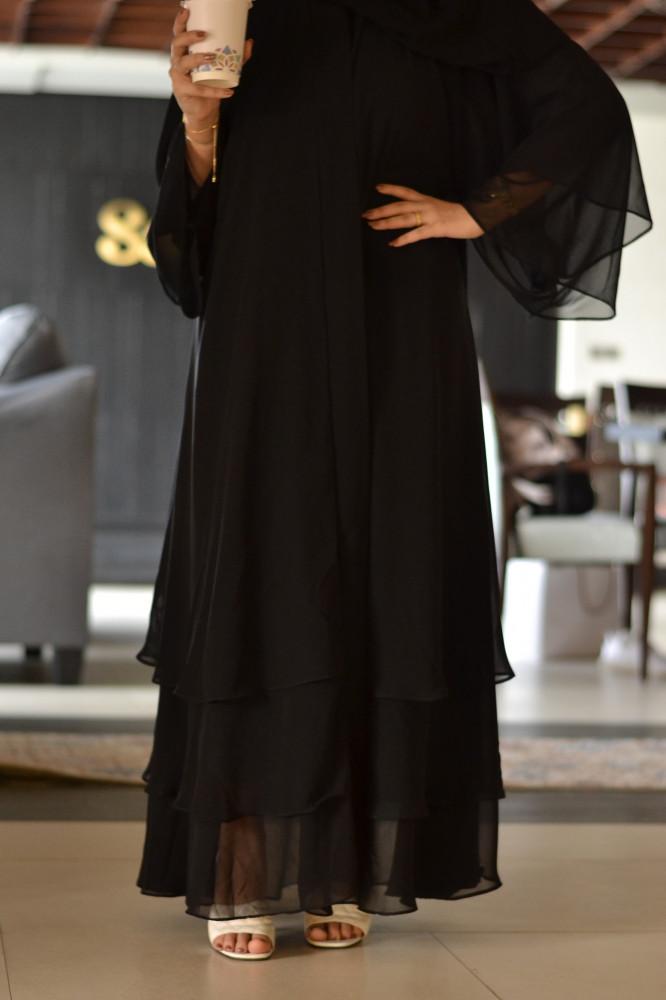 شراء عباية سوداء للمحجبات - متجر ميم عباية