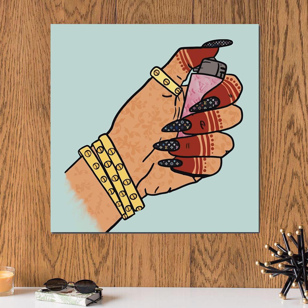 لوحة ولاعة خشب ام دي اف مقاس 30x30 سنتيمتر