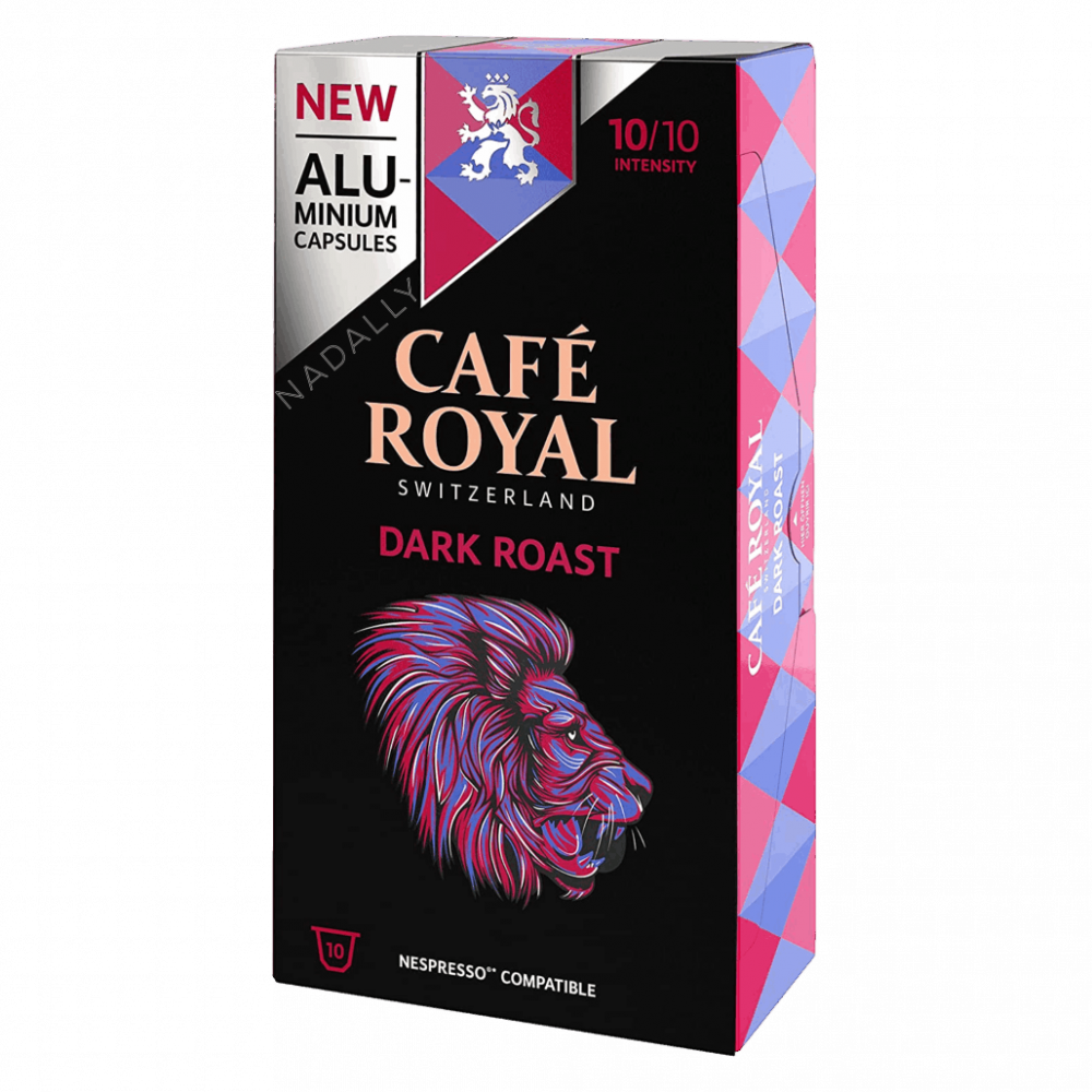 Cafe Royal قهوة كافي رويال دارك روست كبسولات نسبريسو الأصلية Nespresso