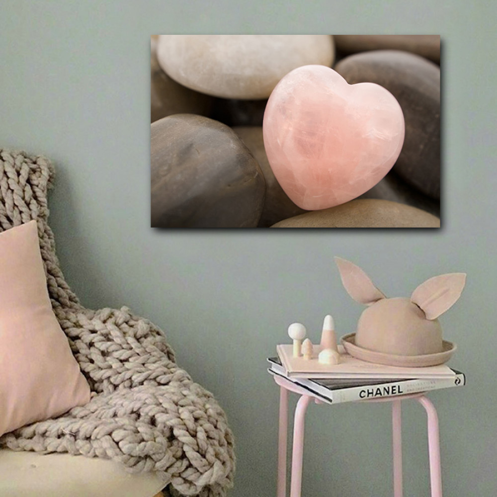 لوحة حجر على شكل قلب حب خشب ام دي اف مقاس 40x60 سنتيمتر