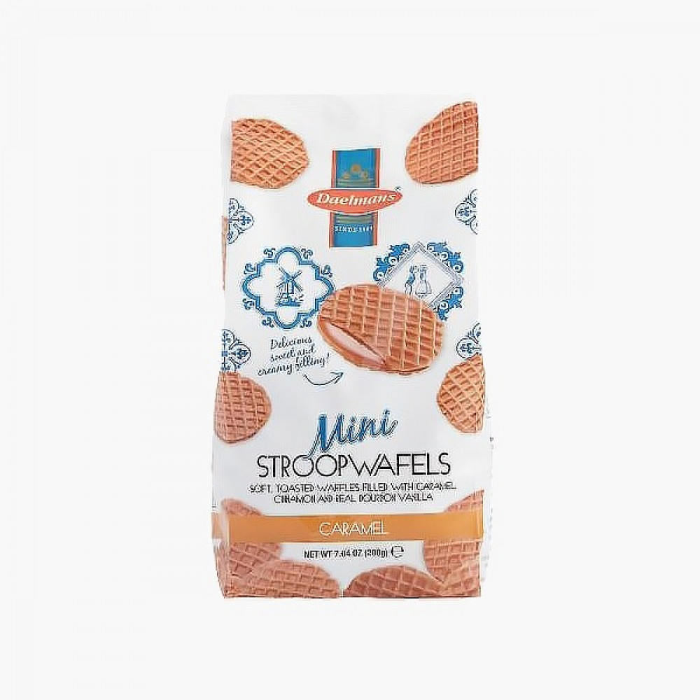 وافل كراميل صغير Dutch Delight Mini Waffles