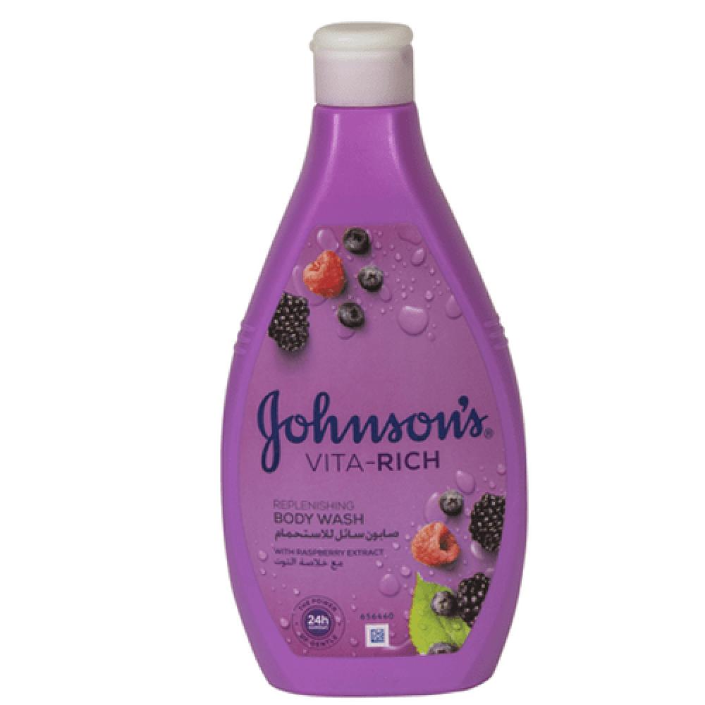 صابون سائل للاستحمام فيتا رتش مع خلاصة التوت من جونسون - 400 مل