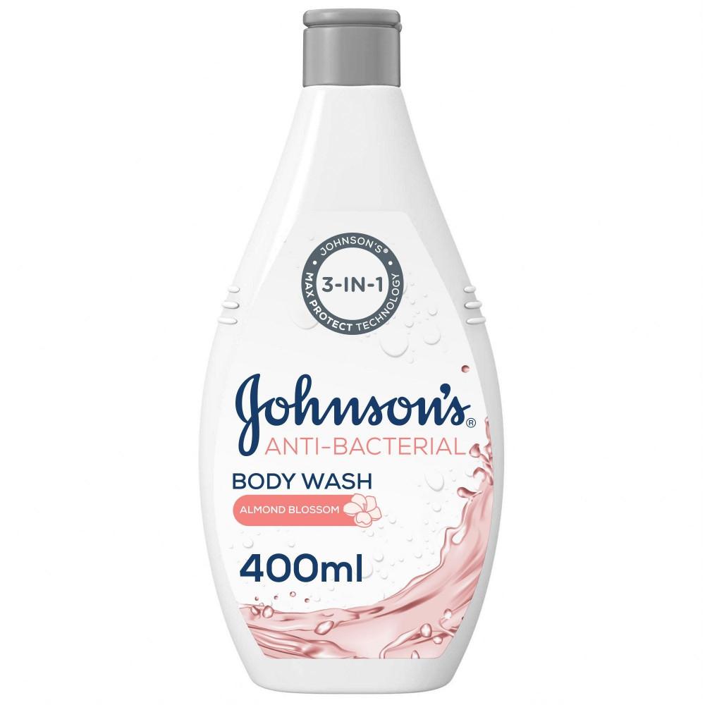جونسون سائل استحمام مضاد للبكتيريا بزهر اللوز 400 مل