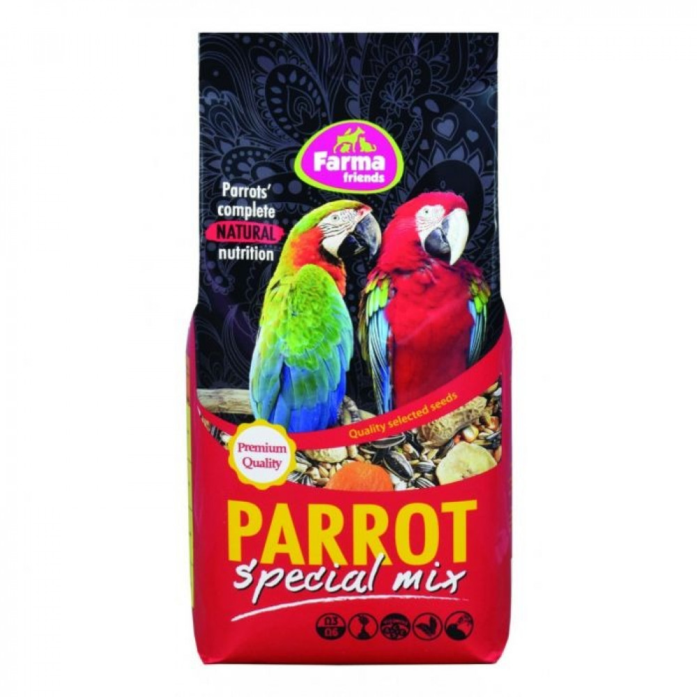 فارما طعام طيور الببغاء الكاسكو وزن 800 غرام الطائر السابع