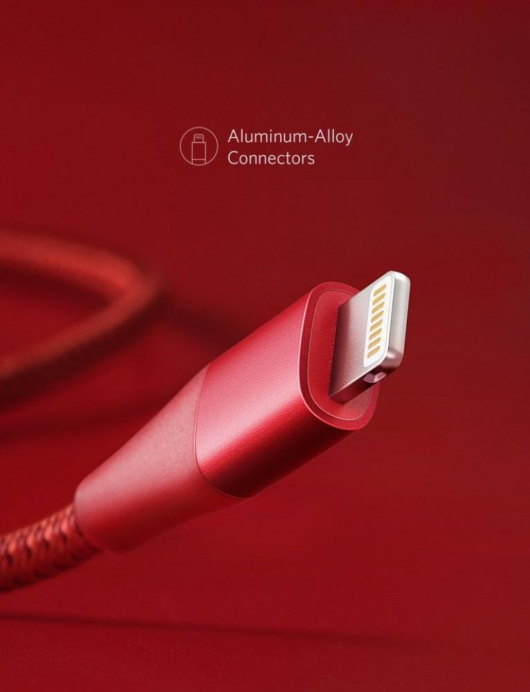 سلك ايفون من انكر  لون احمر
