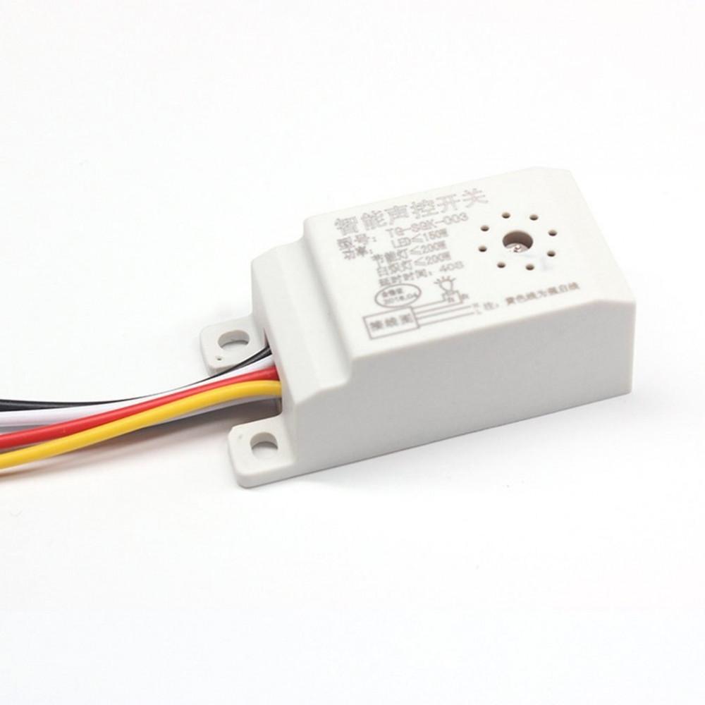 وحدة تحكم واستشعار عن طريق الضوء والصوت لتأخير التبديل مع 5 اسلاك