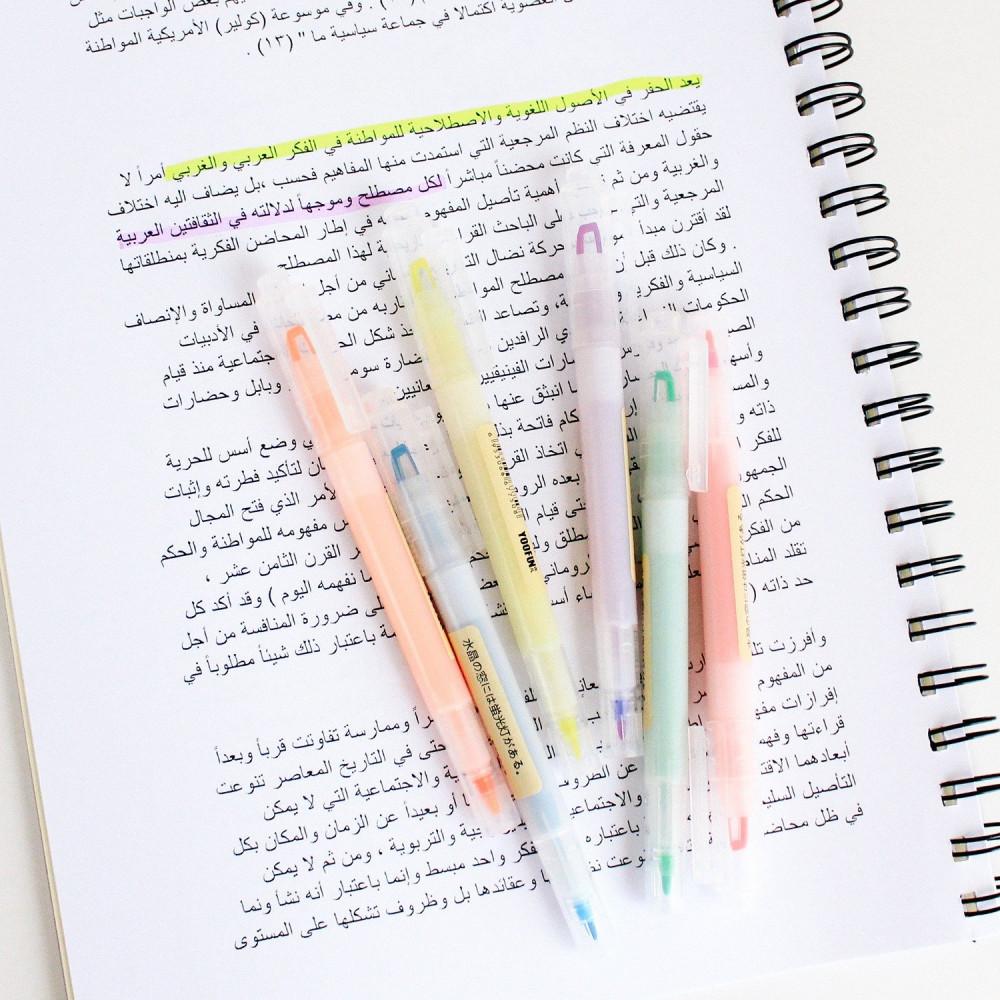 أقلام هايلايتر أقلام تحديد افضل طريقة للمراجعة طريقة المذاكرة الصحيحة