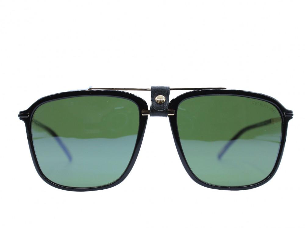 نظاره شمسية مربعه من ماركة CERRUTI لون العدسة اخضر للجنسين حصرية2021