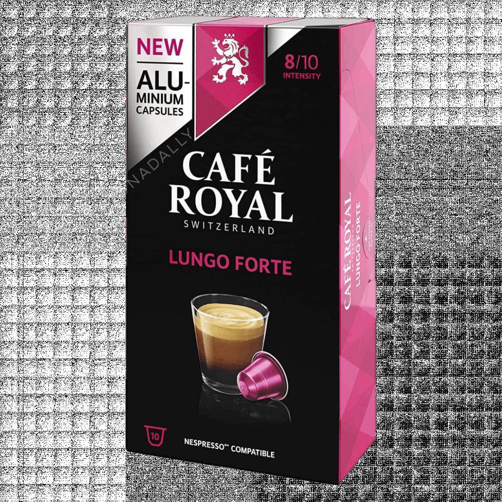 Cafe Royal قهوة كافي رويال لونجو فورتي كبسولات نسبريسو الأصلية Nespres